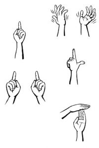 Examples of hand signs